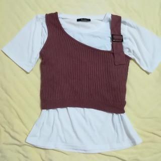 しまむら - 美品★サマーニットビスチェ+Tシャツ