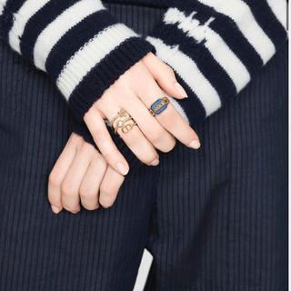 ディオール(Dior)のDior  PETIT CD リング ホワイトクリスタル(リング(指輪))