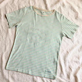 モンベル(mont bell)のmont-bell【速乾ボーダーTシャツ】レディース L size(Tシャツ(半袖/袖なし))