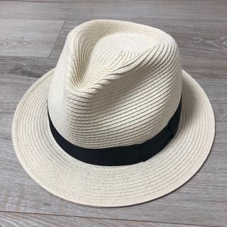 ユニクロ(UNIQLO)のストローハット ホワイト サイズ~59センチ ユニクロ(麦わら帽子/ストローハット)