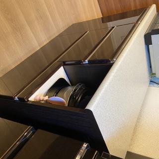 ニトリ - キッチンカウンター(アルミナ2 120CT DBR) ※8/7発送まで