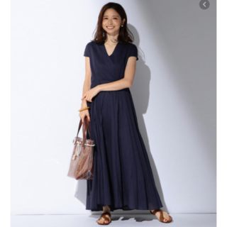 ドゥーズィエムクラス(DEUXIEME CLASSE)の新品タグ付き MARIHA「春の月のドレス」38(ロングワンピース/マキシワンピース)