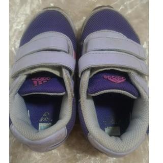 アディダス スニーカー 14cm 紫色