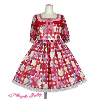 Angelic Pretty - Sweet Cherry Margaretワンピース アカ