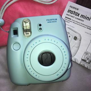 フジフイルム(富士フイルム)のチェキ本体 instax  mini8 水色(フィルムカメラ)