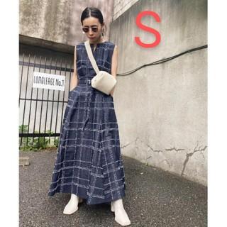 アメリヴィンテージ(Ameri VINTAGE)の新品タグ付 NEEDLE CHECK DRESS S  アメリ(ロングワンピース/マキシワンピース)