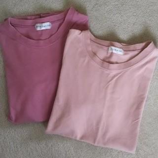 ニッセン(ニッセン)のピンク Tシャツ 2枚セット(Tシャツ(半袖/袖なし))