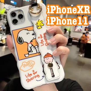 SNOOPY - 【他のサイズもございます】スヌーピー ハンドベルト付き《iPhone11ケース》