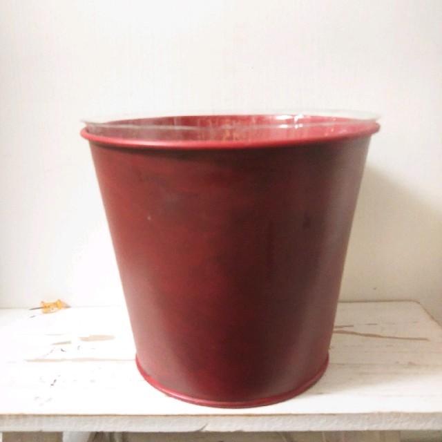 ブリキカン レッド&ベリー 6個セット ハンドメイドのフラワー/ガーデン(プランター)の商品写真