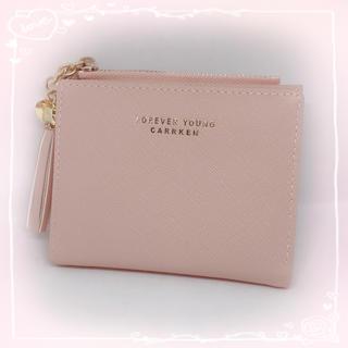 【新品未使用】コンパクト 折り財布 ミニ財布 ピンク(折り財布)