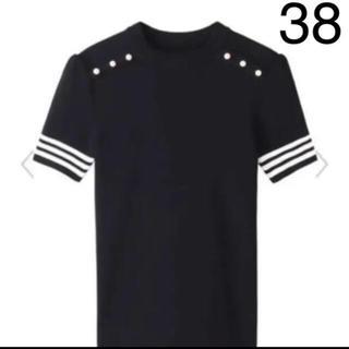 バーニーズニューヨーク(BARNEYS NEW YORK)の新品♡ボーダーズアットバルコニー♡パールニット♡黒♡ブラック(ニット/セーター)