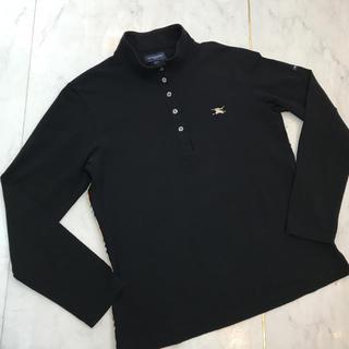 バーバリー(BURBERRY)のバーバリー ゴルフ 長袖ポロシャツ 黒(ポロシャツ)