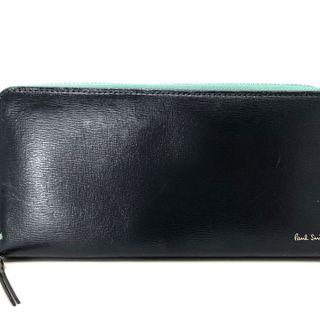 ポールスミス(Paul Smith)のポールスミス 長財布 ネイビー レザー(財布)