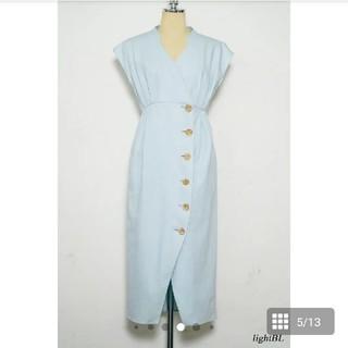 スナイデル(snidel)のDenim Wrap-effect Midi Dress herlipto(ロングワンピース/マキシワンピース)