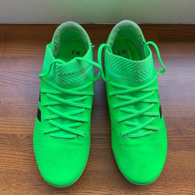 adidas(アディダス)のアディダス サッカー キッズ ネメシス 18.3 メッシモデル スポーツ/アウトドアのサッカー/フットサル(シューズ)の商品写真