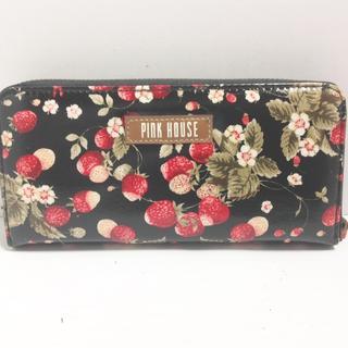ピンクハウス(PINK HOUSE)のピンクハウス 長財布 - 黒×レッド×マルチ(財布)