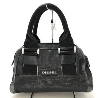 ディーゼル(DIESEL)のディーゼル ハンドバッグ - 黒×シルバー(ハンドバッグ)