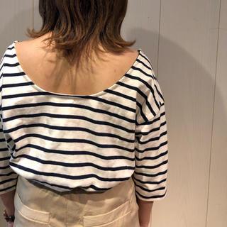 フーズフーチコ(who's who Chico)のchico ルーズbackあきボーダーT(Tシャツ(半袖/袖なし))