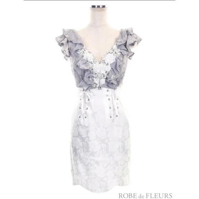 ROBE(ローブ)の美品 ROBE de FLEURS ドレス キャバドレス S レディースのワンピース(ミニワンピース)の商品写真