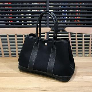 エルメス(Hermes)の美品 エルメス ガーデンパーティTTPM ハンドバッグ ブラック 黒(ハンドバッグ)