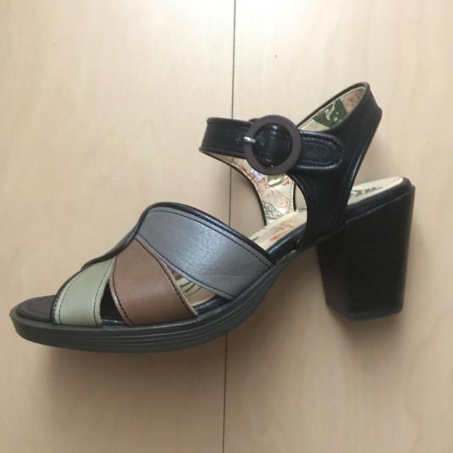 あしながおじさん(アシナガオジサン)のあしながおじさん ストライプ付きサンダル レディースの靴/シューズ(サンダル)の商品写真