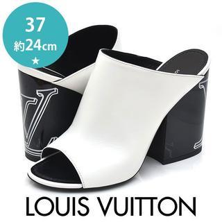 LOUIS VUITTON - ほぼ新品❤ルイヴィトン 2019年SS ロゴヒール サンダル 37(約24cm)