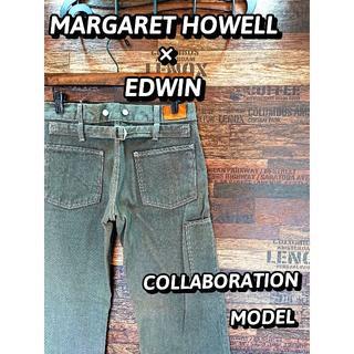 マーガレットハウエル(MARGARET HOWELL)のマーガレットハウエル×エドウィン♪デニムトラウザーズ♪ウエスト約72cm1518(デニム/ジーンズ)
