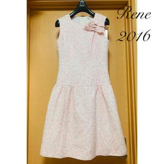 René - Rene♡ 2016年 リボンブローチ付きワンピース ピンク♡