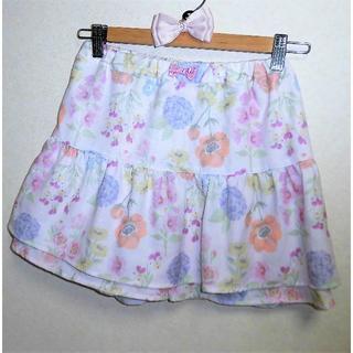 anyFAM - 新品定価3949円 エニィファム オンワード リボン花柄パンツ付スカート150女