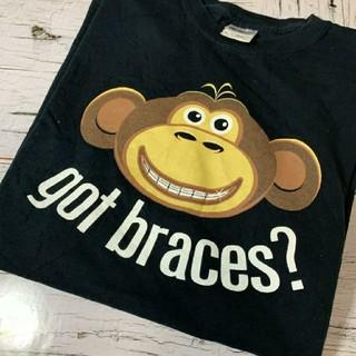 Tシャツ メンズ ギルダン GILDAN 猿 モンキー 黒 ブラック コットン(Tシャツ/カットソー(半袖/袖なし))
