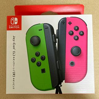 ニンテンドースイッチ(Nintendo Switch)の【未開封】任天堂 Joy-Con (L)ネオングリーン/(R)ネオンピンク(その他)