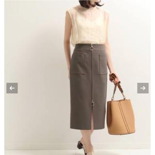 ノーブル(Noble)の新品サイズ38 T/Cフープジップタイトスカート(ひざ丈スカート)