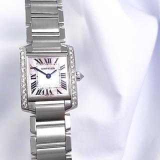 Cartier - 【仕上済】カルティエ フランセーズ ピンクシェル ダイヤ レディース 腕時計