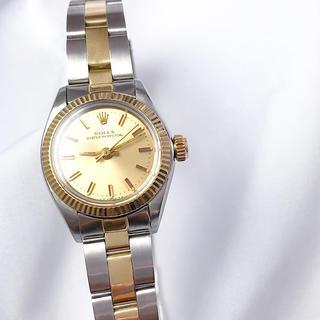 ROLEX - 【仕上済】ロレックス オイスター シャンパン文字盤 レディース 腕時計