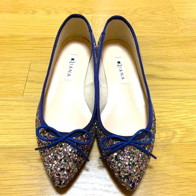 DIANA(ダイアナ)のDIANA グリッターバレエシューズ レディースの靴/シューズ(バレエシューズ)の商品写真