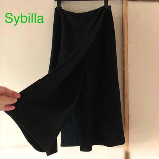 シビラ(Sybilla)のSybilla [シビラ]ブラックラップパンツ✳︎ガウチョ 定価32,000円(その他)
