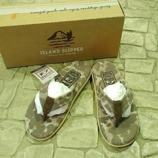 アイランドスリッパ(ISLAND SLIPPER)のIsland Slipper 公式販売なし! レアなカモフラ★ US 8(サンダル)