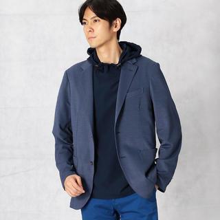 コムサメン(COMME CA MEN)の新品 コムサメン  春夏ラミー鹿の子ジャケット ブルー Lサイズ(テーラードジャケット)