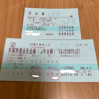 ジェイアール(JR)の青春18きっぷ 青春18切符 3回分(鉄道乗車券)