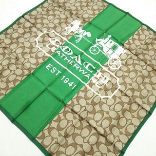 コーチ(COACH)のコーチ スカーフ美品  シグネチャー柄(バンダナ/スカーフ)