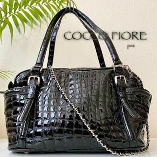 三越 - 極美品 コッコフィオーレ 約4万 2way エナメルレザーショルダーバッグ 鞄