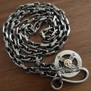 ゴローズ(goro's)の18k✕SV950 金メタル付きホイール イーグルフック 極太角チェーン 1式(ネックレス)