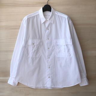 PORTER - Porter Classic ロールアップシャツ ホワイト