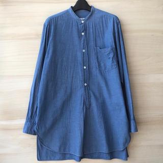 COMOLI - comoli ベタシャンバンドカラーシャツ ブルー