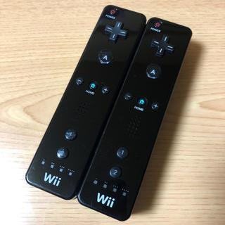 Wii - 任天堂Wiiリモコン ブラック2本セット