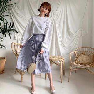 dholic - 当日発送可能❤韓国ファッションシルキーパープルプリーツロングスカート