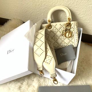 Dior - レディディオール 白スタッズ 銀座店 ディオールバッグ
