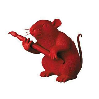 メディコムトイ(MEDICOM TOY)の【新品未開封】LOVE RAT (RED Ver.) バンクシー(彫刻/オブジェ)