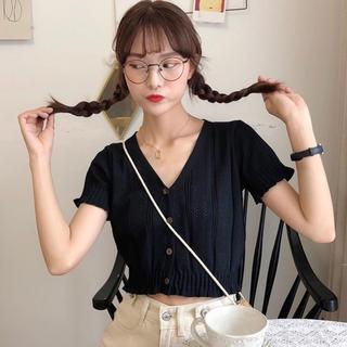 ディーホリック(dholic)の当日発送可能❤韓国ファッションジサマーニットへそ出しトップス(ニット/セーター)