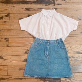 サンタモニカ(Santa Monica)のused 白シャツ(シャツ/ブラウス(半袖/袖なし))